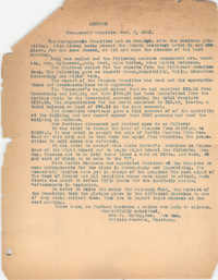 Management Committee Minutes, Coming Street Y.W.C.A., November 2, 1921