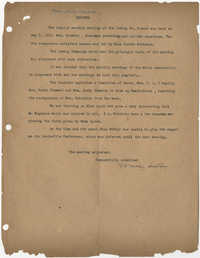 Minutes, Coming Street Y.W.C.A., May 9, 1921