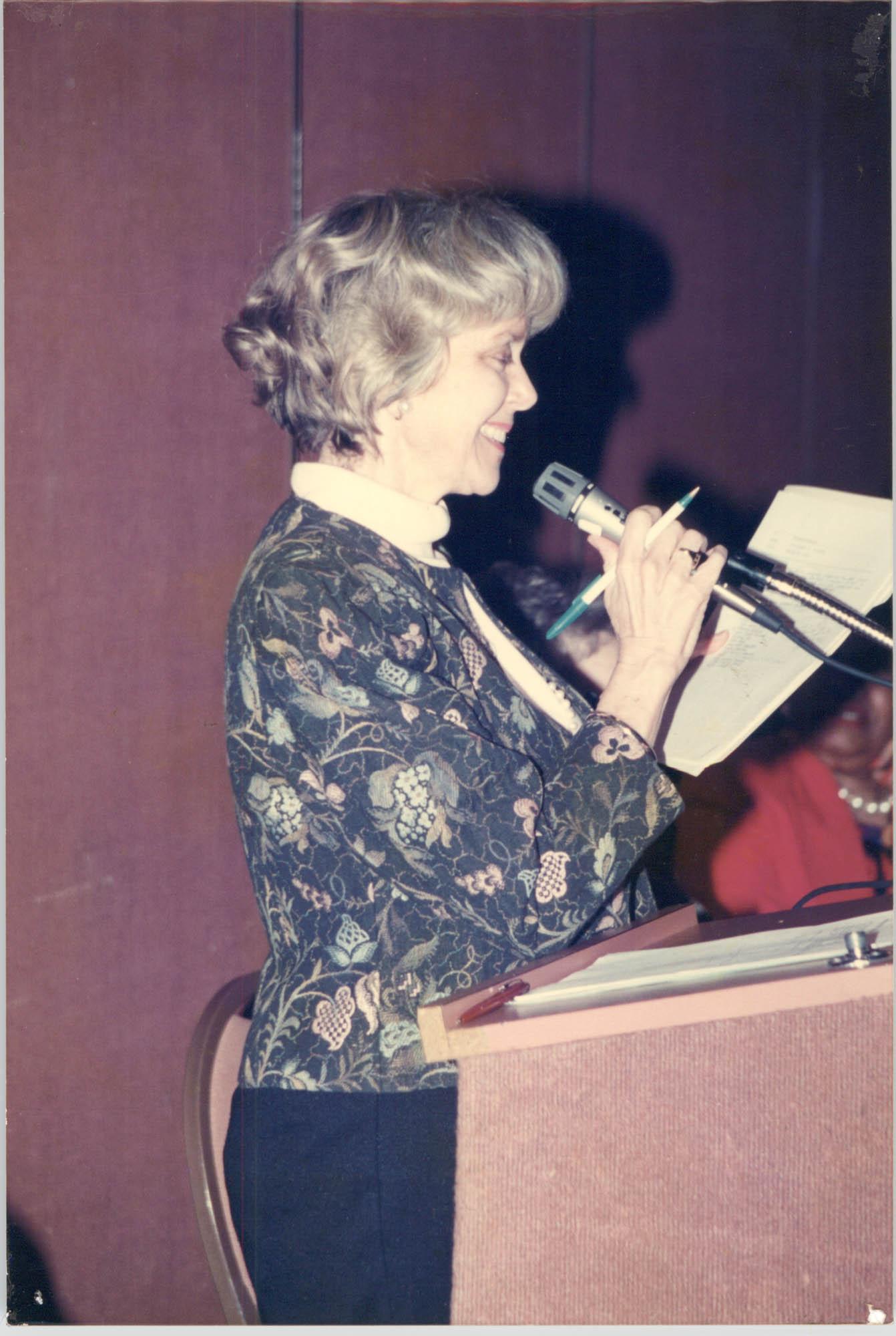 Photograph of a Women Speaker