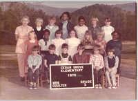 Photograph of a 3rd Grade Class, Cedar Grove Elementary School