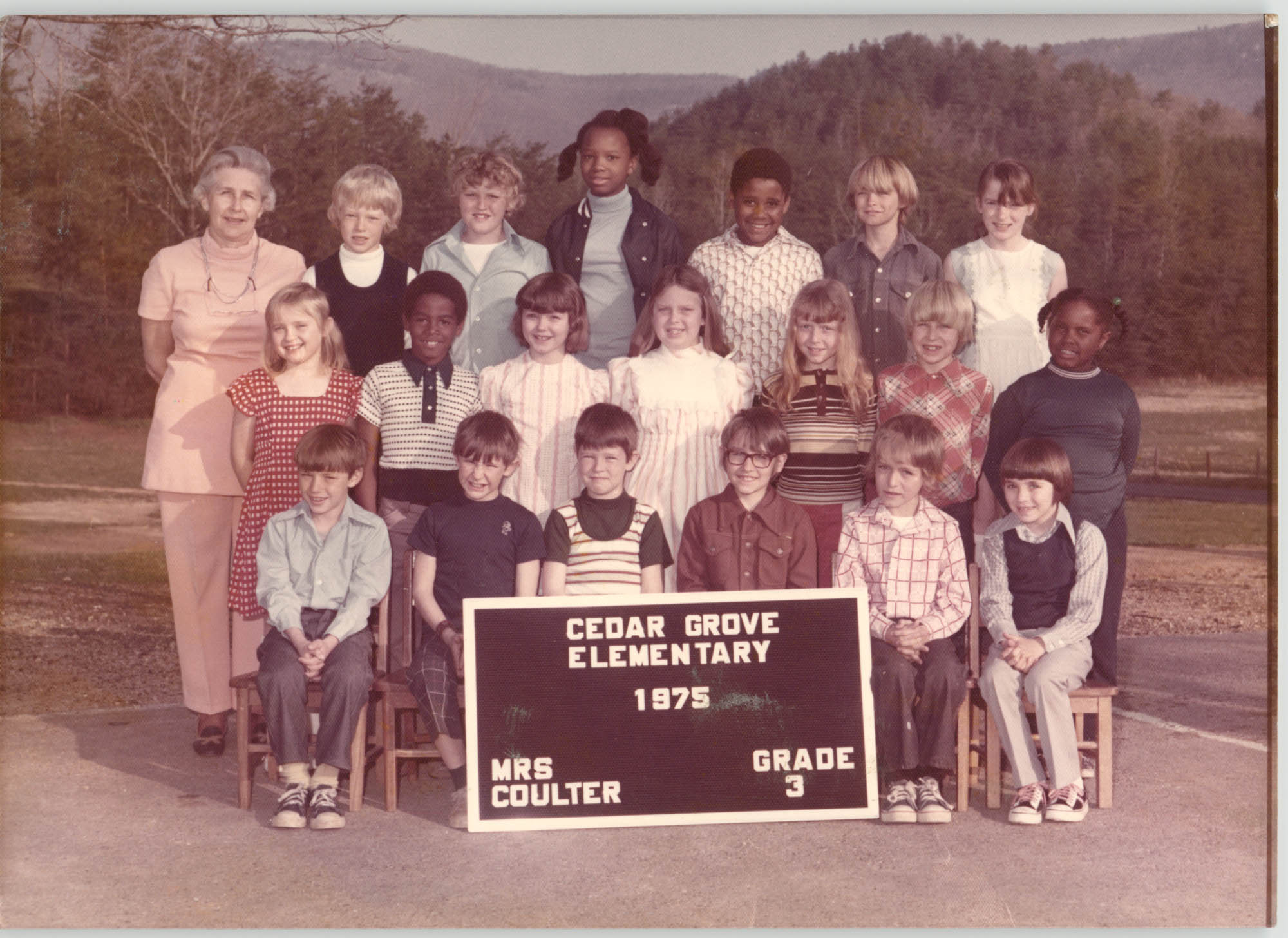 Photograph of a 3rd Grade Class, Cedar Grove Elementary School