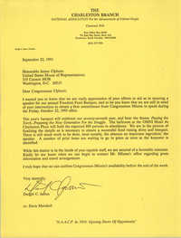 Letter from Dwight C. James to James Clyburn, September 22, 1993