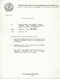 NAACP Memorandum, March 28, 1992