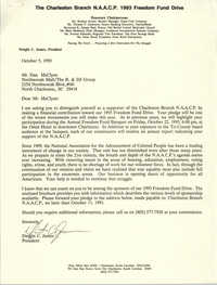 Letter from Dwight C. James to Dan McClynn, October 5, 1993