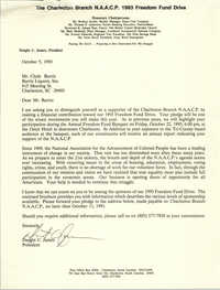 Letter from Dwight C. James to Clyde Burris, October 5, 1993