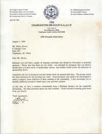 Letter from Dwight C. James to Henry Rivers, August 1, 1994