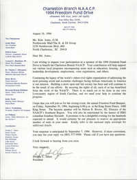 Letter from Dwight C. James to Kim Jones, August 19, 1994