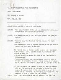 Charleston Branch NAACP Memorandum, February 26, 1992