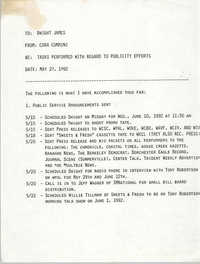 Charleston Branch NAACP Memorandum, May 22, 1992