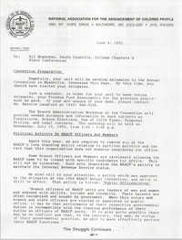 NAACP Memorandum, June 4, 1992