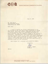 Letter from Harry R. Bryan to Anna D. Kelly, June 9, 1981
