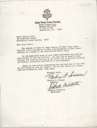 Letter from Pauline F. Simmons and Vertelle Middleton to Septima Clark, 1974