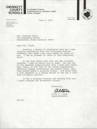 Letter from Alton C. Crews to Septima P. Clark, June 5, 1978