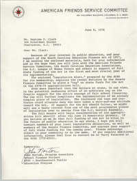 Letter from John Norton to Septima P. Clark, June 8, 1978