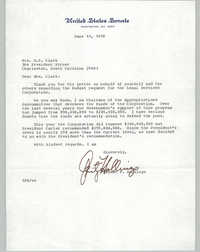 Letter Ernest F. Hollings to Septima P. Clark, June 19, 1978