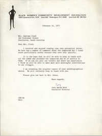Letter from Inez Smith Reid to Septima P. Clark, February 16, 1973