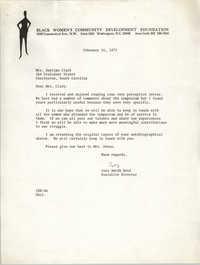Letter from Inez Smith Reid to Septima P. Clark, February 16, 1973
