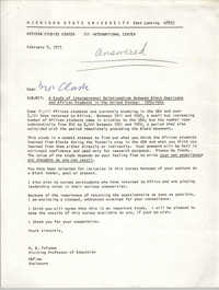 Letter from A. B. Fafunwa to Septima P. Clark, February 9, 1973