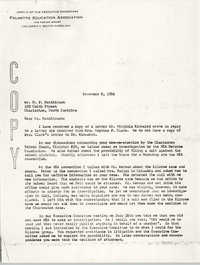 Letter from W. E. Solomon to H. P. Hutchinson, November 8, 1956