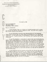 Letter from W. E. Solomon to H. P. Hutchinson, November 8, 1956