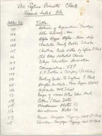 Mrs. Septima Poinsette Clark Research Index File, College of Charleston
