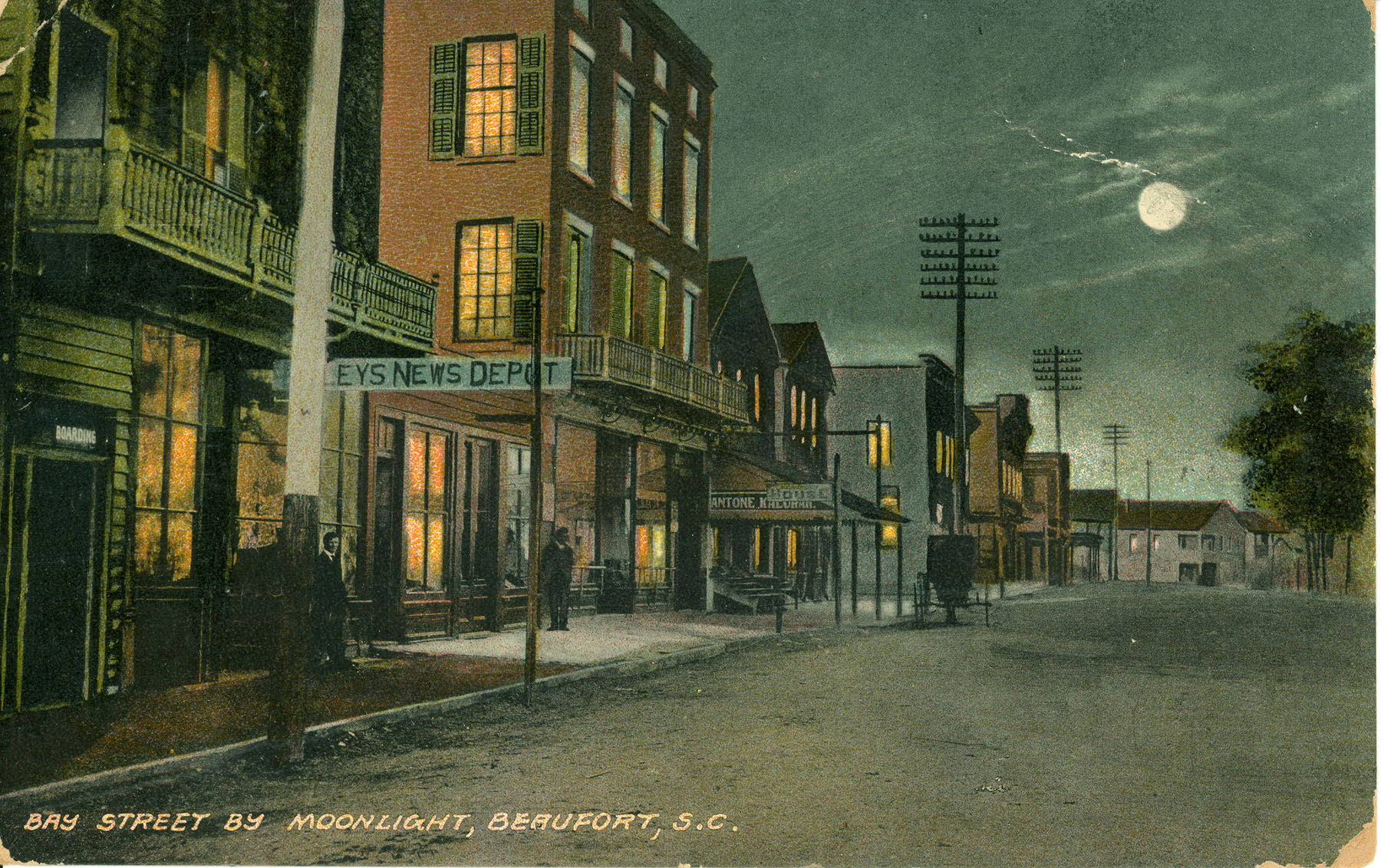 Bay Street by Moonlight, Beaufort, S.C.
