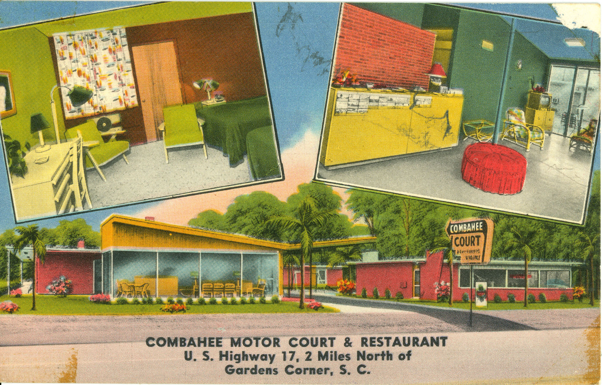 Combahee Motor Court & Restaurant. U.S. Highway 17, 2 Miles North of Gardens, S.C.