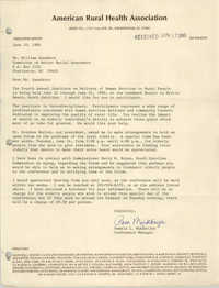 Letter from Pamela L. Mukherjee to William Saunders, June 12, 1980