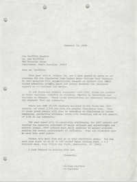 Letter from William Saunders to Joe Griffith, December 12, 1978