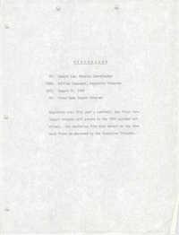 COBRA Memorandum, August 31, 1978