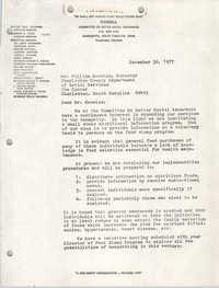 COBRA Memorandum, December 30, 1977