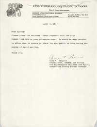 Letter from Anne V. Padgett, April 5, 1977
