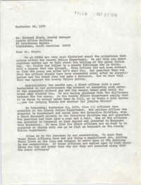 Letter from William Saunders to Richard Black, September 26, 1974