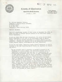 Letter from Richard L. Black to William Saunders, October 1, 1974