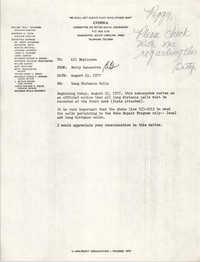 COBRA Memorandum, August 25, 1977