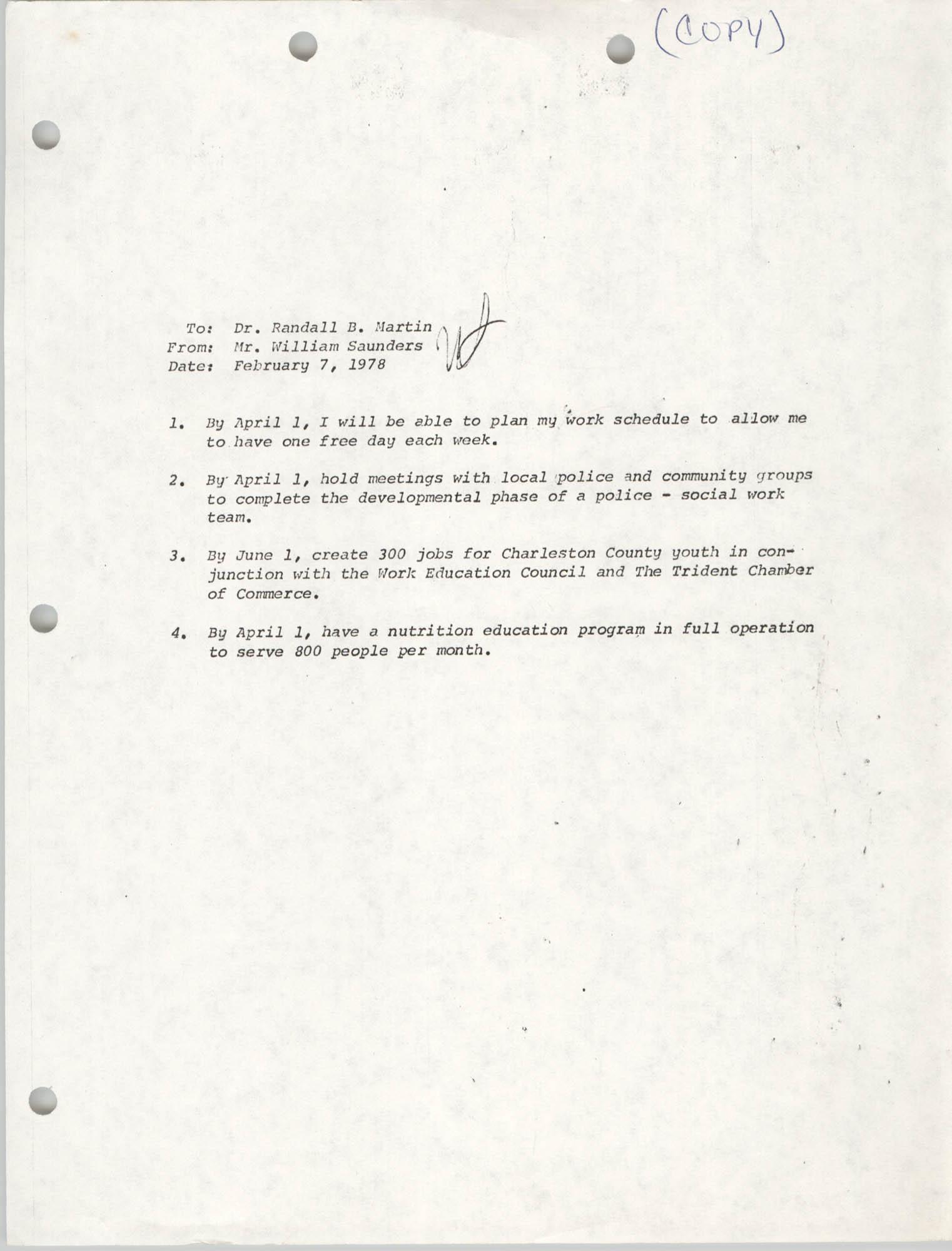COBRA Memorandum, February 7, 1978