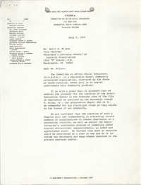 Letter from William Saunders and J. Arthur Brown to David K. Wilson, July 5, 1979