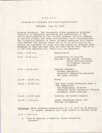 Agenda, June 23, 1979