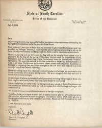 Letter from Carroll A. Campbell, Jr., July 7, 1994