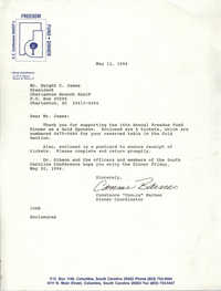 Letter from Constance Barnes to Dwight C. James, May 11, 1994