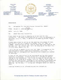 Charleston Branch NAACP Memorandum, July 3, 1992