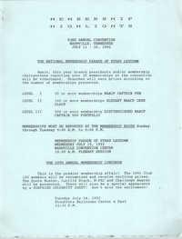 Membership Highlights, July 11-16, 1992