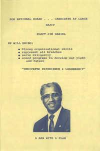 Jim Daniel Campaign Flyer