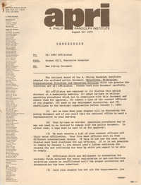 Memorandum, A. Philip Randolph Institute, August 10, 1979