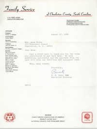 Letter from H. B. Free to Anna D. Kelly, August 27, 1986