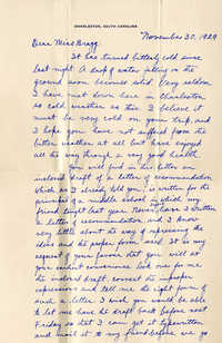 Letter from Fong Lee Wong to Laura M. Bragg, November 30, 1929