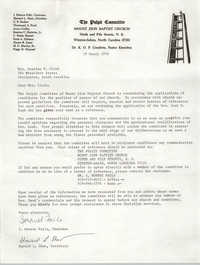 Letter from I. Monroe Falls and Howard L. Shaw, March 19, 1978