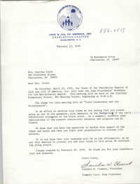 Letter from Saundra W. Clement and Tommett Carr to Septima P. Clark, February 12, 1976