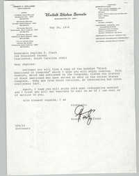 Letter Ernest F. Hollings to Septima P. Clark, May 26, 1978