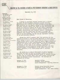 Letter from Marianna W. Davis, September 15, 1976